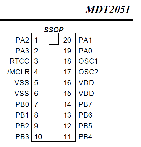 SP SIGNAL(LEDチカチカ)(パターン切れ)MDT2051ピン接