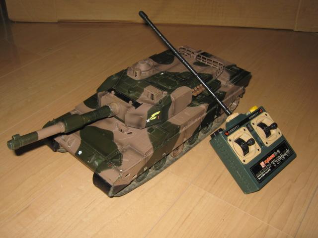 ラジコン90式戦車(モータードライブTr交換)外観