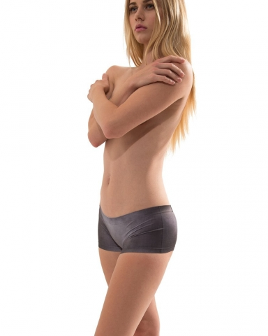 Croota Seamless Boyshorts Panty (Smoky Black)