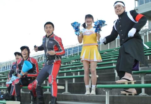 星雲チームを応援するXioメンバー