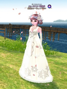 03_27はにかむウェディングドレス