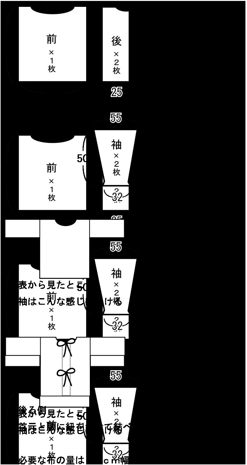 割烹着の作り方