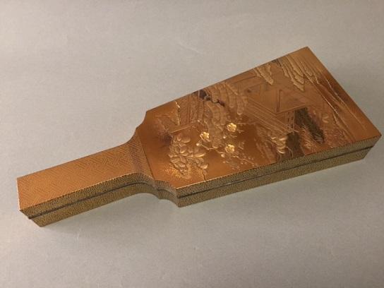 蒔絵 羽子板硯箱