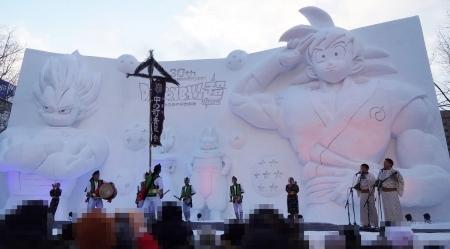「ドラゴンボール超(スーパー)」悟空&ベジータ 大雪像