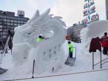国際雪像コンクールの作品