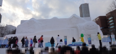 大雪像 2016年3月26日開業!北海道新幹線