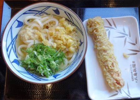 かけうどん(並) 290 円 + ちくわ天 110 円