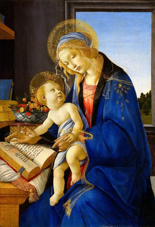 ボッティチェリ『聖母子(書物の聖母)』