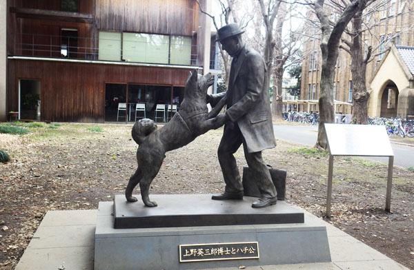 「上野英三郎博士とハチ公の像」