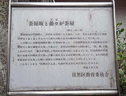 茶屋坂の碑