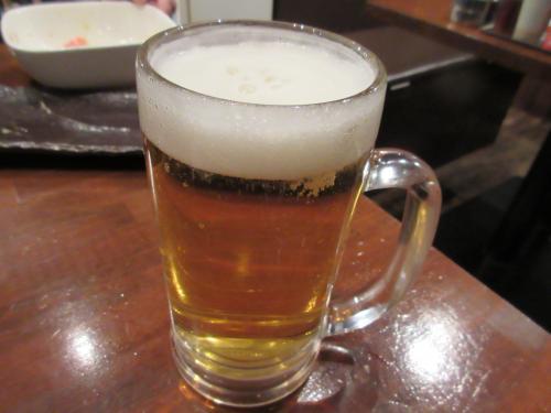 生ビールがうまい