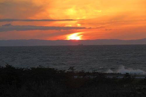 伊良湖休暇村からの夕陽