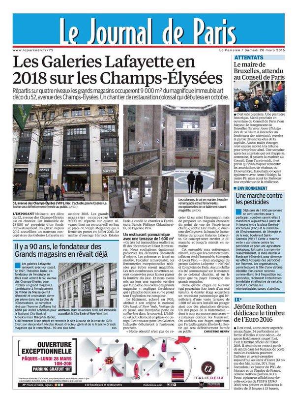 Les Galeries Lafayette en 2018 sur les Champs-Élysées
