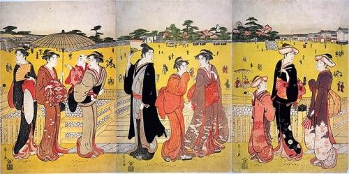 上野三枚橋之図