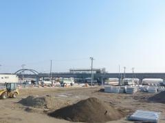 新しく建てられている坂元駅