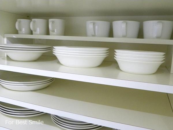 17>深さのある白い食器の見直し・片づけ・収納