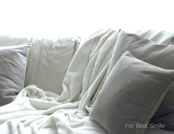 02>無印良品の綿シール織毛布