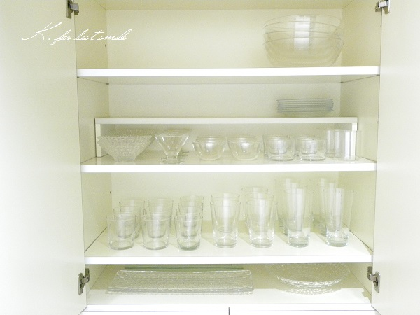 08>食器棚の収納・片付け終了