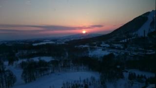 昆布山の落日