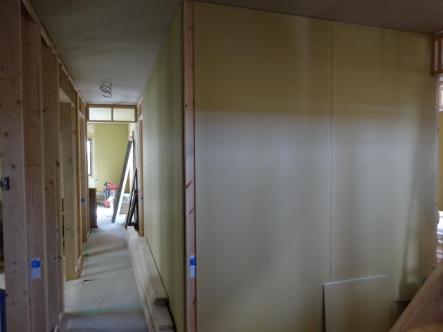 1階壁石膏ボード