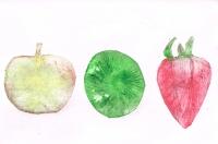 りんご.イチゴ.キュウイ ペン