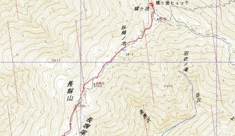 20151231蝶ヶ岳2