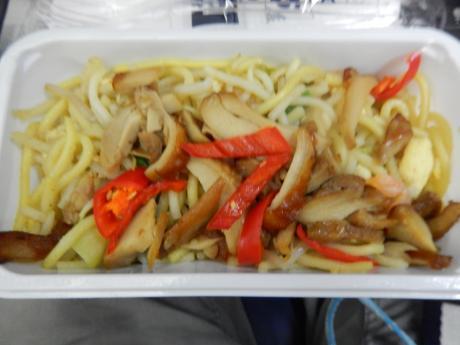 シンガポール2015.10デルタ航空成田行・機内食