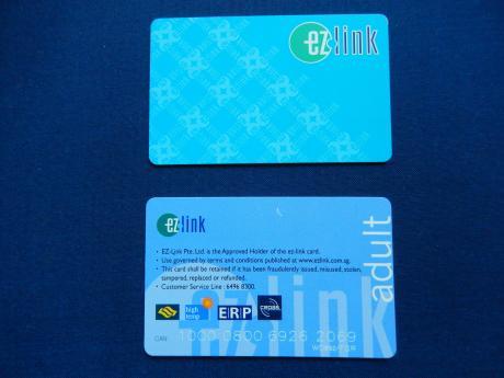 シンガポール2015.10ezリンクカード