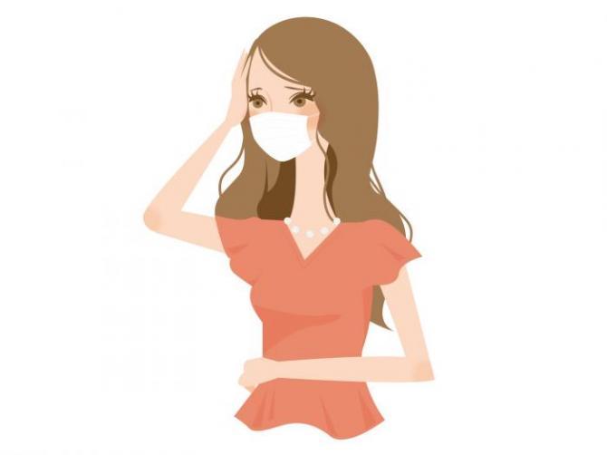 体調不良の女性2
