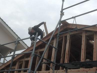 屋根張り2