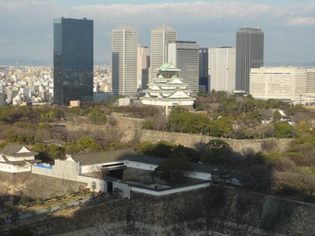 2016年1月14日 大阪歴博より 大阪城