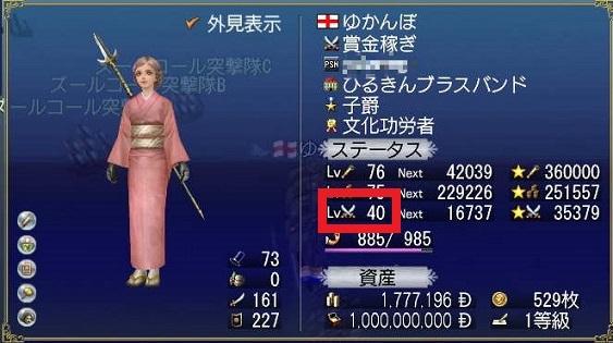 戦闘LV40修正