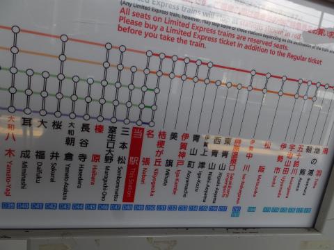 赤目口駅路線