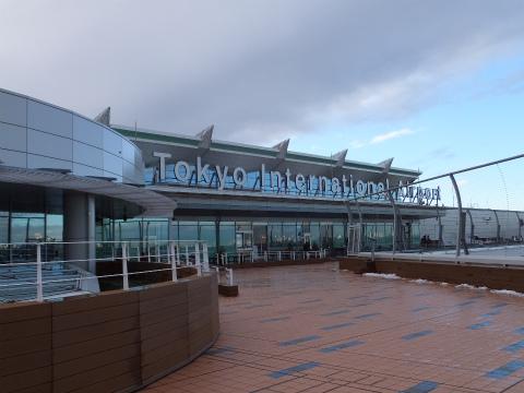 羽田空港国際線デッキ