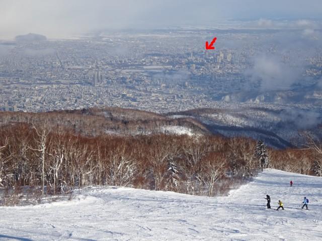 12月30日 札幌市街も目と鼻の先