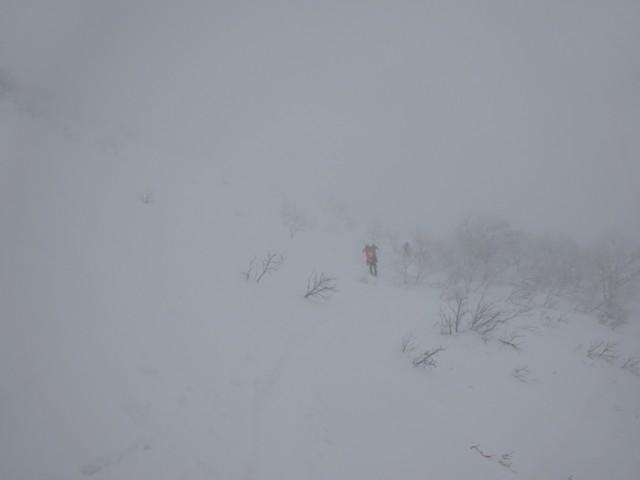 12月31日 1300mくらい.ガスの中.