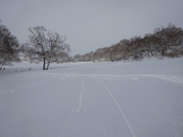 1月1日 メンツル湿雪独り占め