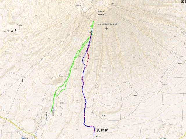 1月1日 墓地から神社の沢GPSログ