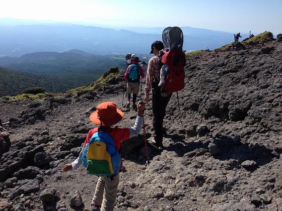 韓国岳(40)下山開始