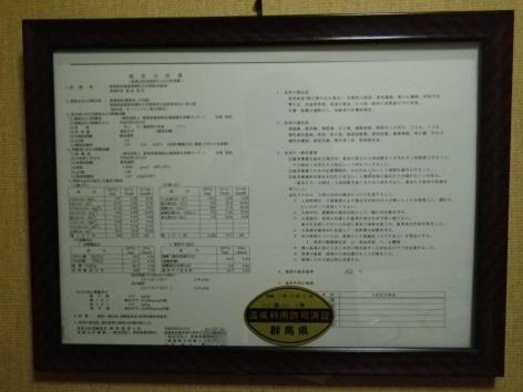 旅館美津木 温泉分析書