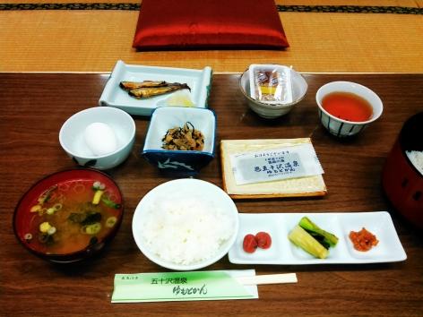 五十沢温泉 朝食
