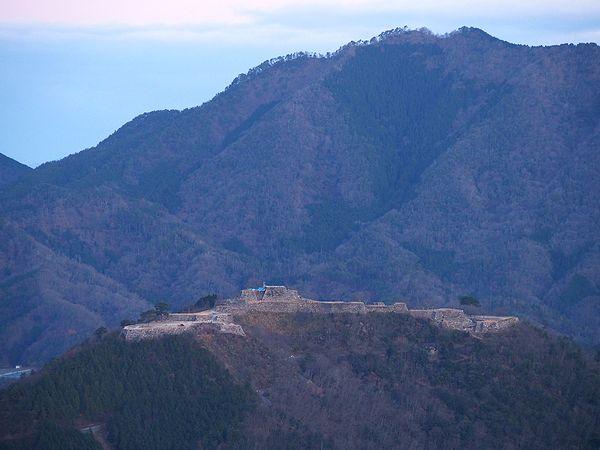 立雲峡から竹田城を俯瞰
