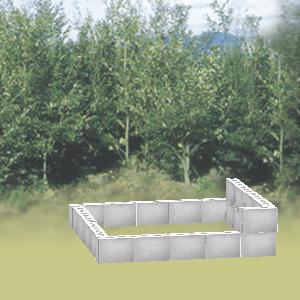畑にブロックを配置