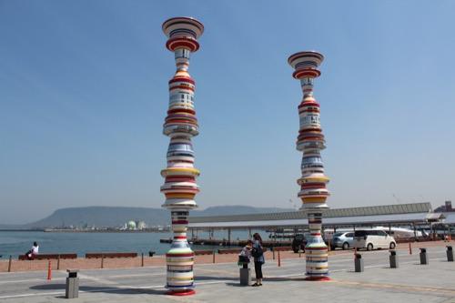 an02:高松港の芸術祭作品