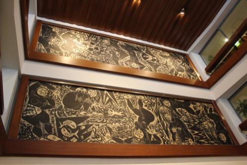0064:倉敷国際ホテル ロビー吹抜けにある『大世界の柵・坤(こん)』