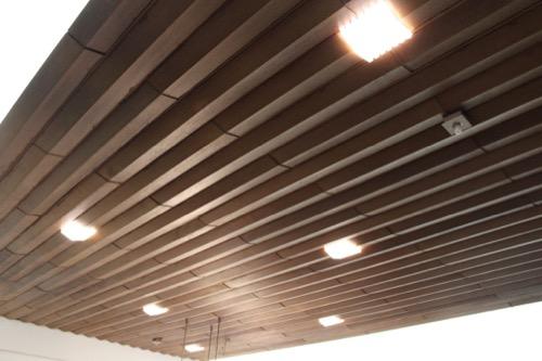 0064:倉敷国際ホテル 木材によるロビー天井の仕上げ
