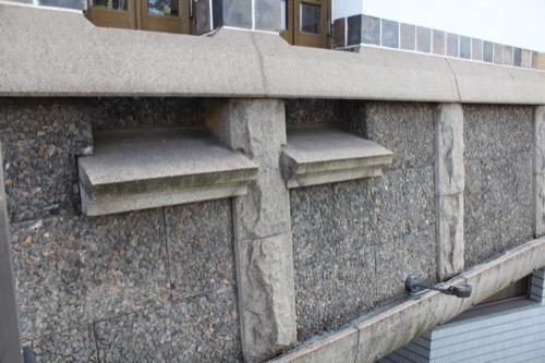 0064:倉敷国際ホテル 建物右側にある外壁デザイン