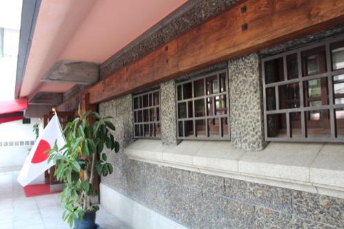 0064:倉敷国際ホテル 多様な素材で設えられた玄関外壁