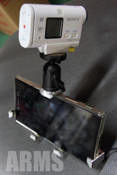 アクションカメラのステーを製作