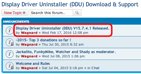 Display Driver Uninstaller DDU V15.7.4.1 Wagnardsoft Forum Download & Support